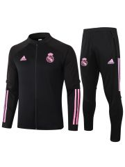 Спортивный костюм черно-розовый Реал Мадрид с молнией