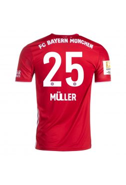 Футболка домашняя Бавария Мюнхен 2020-2021 Muller 25 (Томас Мюллер)