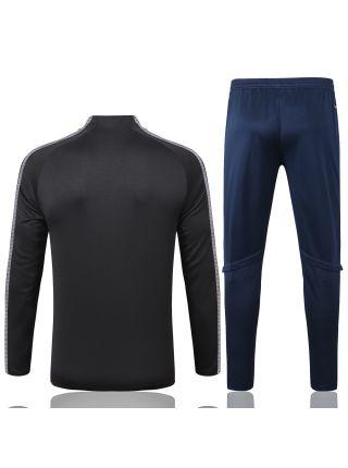 Спортивный костюм черно-синий Ювентус с молнией