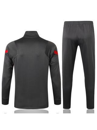 Спортивный костюм серый Ливерпуль с молнией