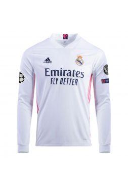 Футболка с длинным  рукавом домашняя Реал Мадрид 2020-2021