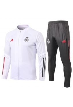 Спортивный костюм бело-черный Реал Мадрид с молнией