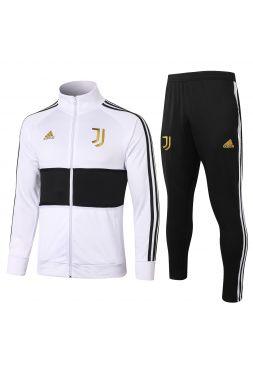 Спортивный костюм бело-черно-золотой Ювентус с молнией