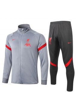 Спортивный костюм серо-красный Ливерпуль с молнией