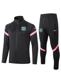 Спортивный костюм розовый Барселона с молнией
