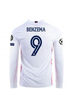 Футболка с длинным рукавом домашняя Реал Мадрид 2020-2021 Benzema 9 (Карим Бензема)