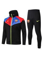 Спортивный костюм черно-красно-синий Барселона с капюшоном