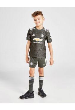 Футбольная форма детская гостевая Манчестер Юнайтед 2020-2021