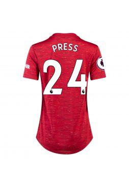 Футболка женская домашняя Манчестер Юнайтед 2020-2021 Press 24 (Кристен Пресс)