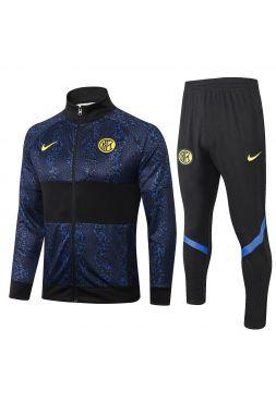 Спортивный костюм черно-синий Интер Милан с молнией