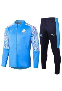 Спортивный костюм светло-синий Олимпик Марсель с молнией