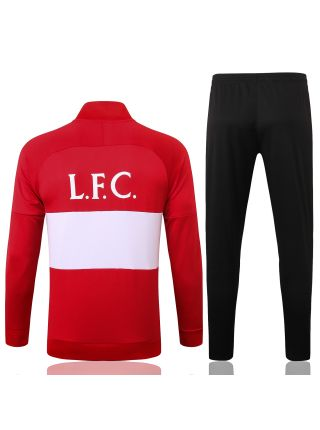 Спортивный костюм красно-бело-черный Ливерпуль с молнией