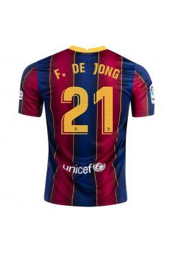 Футболка домашняя Барселоны 2020-2021 F de Jong 21(Френки де Йонг )