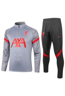 Спортивный костюм серебряно-черный Ливерпуль
