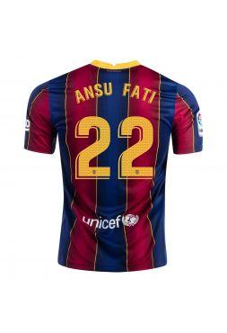 Футболка домашняя Барселоны 2020-2021 Ansu Fat 22(Фати Виейр)