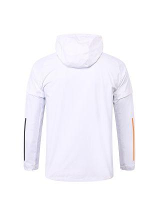 Спортивный костюм бело-черный Манчестер Юнайтед с капюшоном