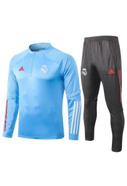 Спортивный костюм светло-сине-черный Реал Мадрид