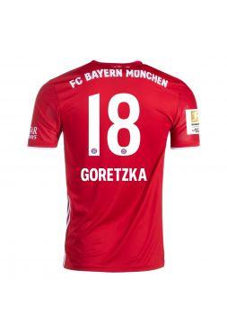 Футболка домашняя Бавария Мюнхен 2020-2021 Goretzka 18 (Леон Горецка)
