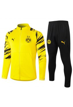 Спортивный костюм желто-черный зебра Боруссии Дортмунд с молнией