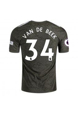 Футболка гостевая Манчестер Юнайтед 2020-2021 Van De Beek 34 (Донни ван де Бек)