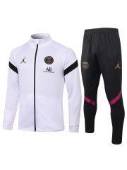 Спортивный костюм бело-черный ПСЖ с молнией