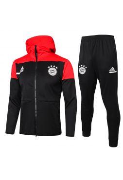 Спортивный костюм черно-красный Бавария Мюнхен с капюшоном