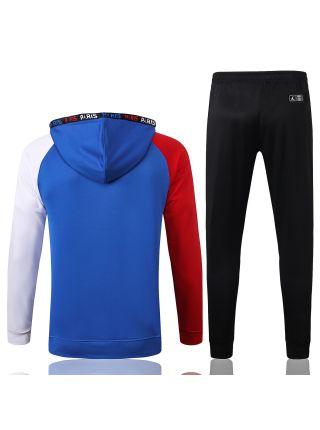 Спортивный костюм сине-красный ПСЖ с капюшоном