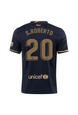Футболка гостевая Барселоны 2020-2021 S Roberto 20 (Роберто)