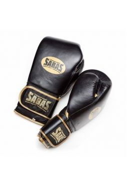 Перчатки для бокса SABAS SuperSoft Velcro Black/Gold