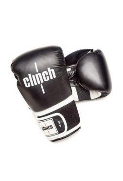 Боксерские перчатки Clinch Punch черно-белые