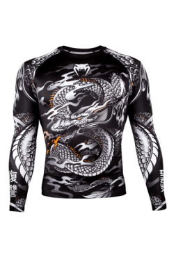 Рашгард Venum Giant x Dragon LS Black/White