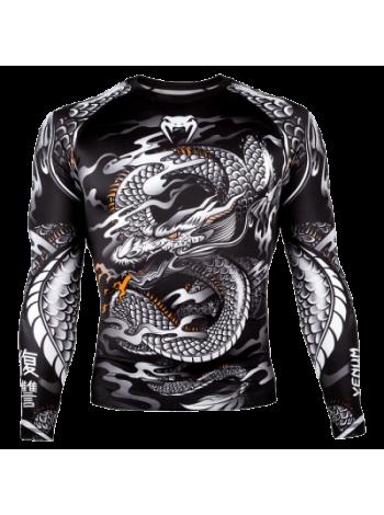 Рашгард Venum Giant x Dragon LS Black/White