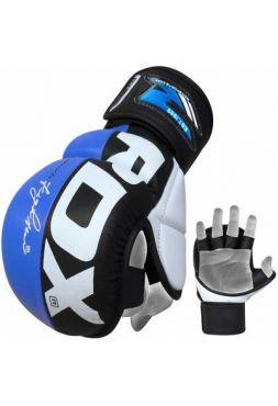 Перчатки MMA RDX спарринговые Rex Blue