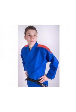 Кимоно Adidas для дзюдо Contest синее с красными полосками