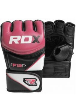 Перчатки MMA RDX Leather-X Pink