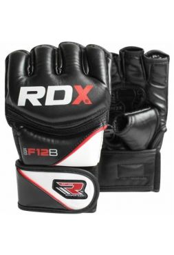 Перчатки MMA RDX Leather-X Black