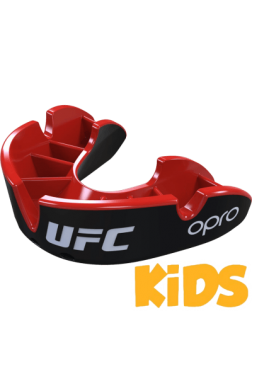 Детская капа UFC Opro Silver Level Black/Red