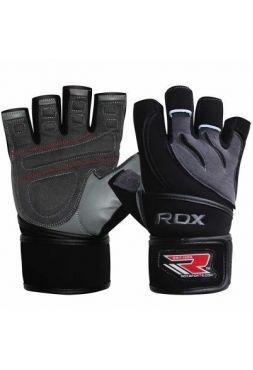 Перчатки для фитнеса RDX Pro Lift Black (кожа)