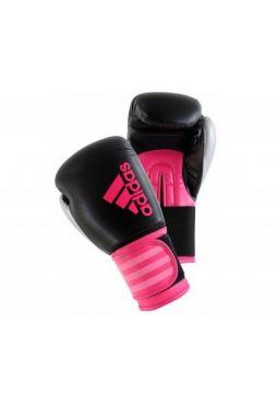 Женские боксерские перчатки Adidas Hybrid 100 Dynamic Fit Черно-розовые