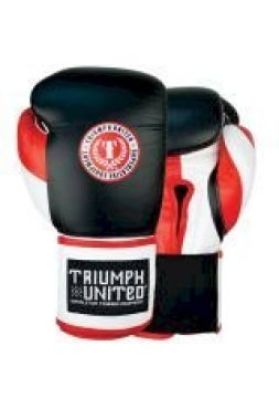 Боксерские перчатки TRIUMPH UNITED Death Adder Velcro Sparring Black/White/Red