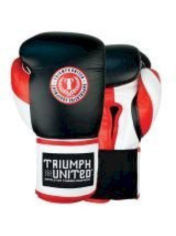 Боксерские перчатки TRIUMPH UNITED Death Adder Velcro Sparring Black/White/Red