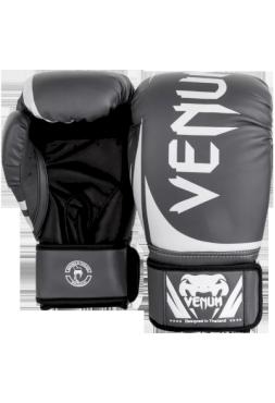 Перчатки для бокса Venum Challenger 2.0 Grey/White-Black
