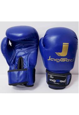 Детские боксерские перчатки JagGed синие (кожзам)