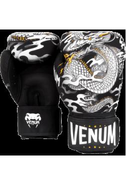 Боксерские перчатки Venum Dragon`s Flight Black/White