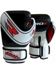 Детские боксерские перчатки RDX JBG-4B 4oz White/Black