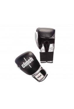 Боксерские перчатки Clinch Prime черно-серебристые