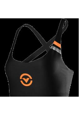 Женский тренировочный топик Virus Black/Orange