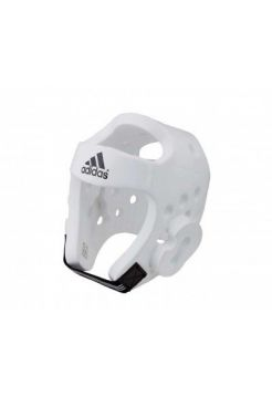 Шлем Adidas для тхэквондо Head Guard Dip Foam WTF белый