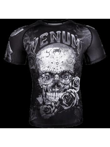 Рашгард Venum Santa Muerte 3.0 SS Black/White