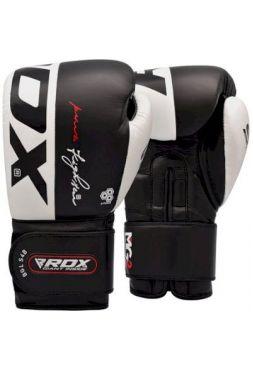 Перчатки для бокса RDX Leather S4 Black